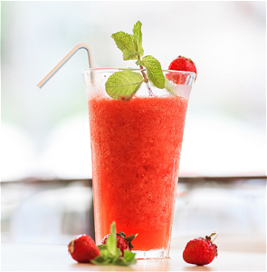 Foto Frozen daiquiri aardbei virgin (zonder alcohol)