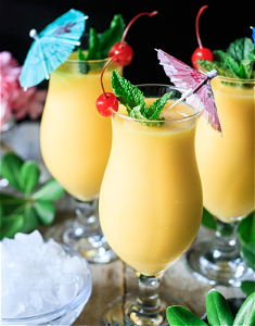 Foto Frozen daiquiri mango virgin (zonder alcohol)